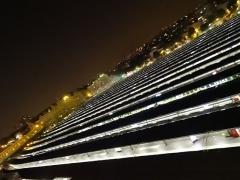 Gare de l'Est - Français:   Gare de l\'Est - vue des voies - nuit