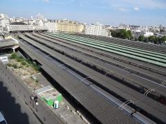 Gare de l'Est - Français:   Gare de l\'Est - vue des voies