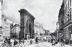 Porte Saint-Denis -  Porte Saint-Denis around 1840. Artist: Ph. Benoist