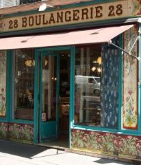 Boulangerie - English:   Boulangerie-pâtisserie Beaumarchais, 28 boulevard Beaumarchais, Paris, France.