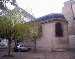 Ancienne caserne des Mousquetaires Noirs, dans l'actuel Hôpital des Quinze-Vingts (Centre d'ophtalmologie) - English:   Caserne des Mousquetaires noirs, Paris, France. Chapel.