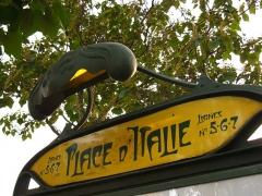 Métropolitain, station Place d'Italie - Français:   Plaque de la bouche de métro Place d\'Italie côté avenue d\'Italie