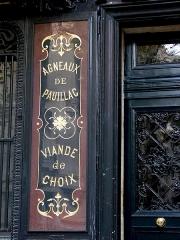 Boucherie Lamartine - Français:   Boucherie Lamartine - 172 avenue Victor Hugo - Paris 16 Détail du \