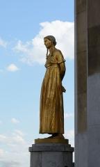 Palais de Chaillot - Français:   Palais de Chaillot, Parvis des droits de l\'homme: Les Fruits, par Félix-Alexandre Desruelles (Classé)