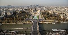 Palais de Chaillot - Français:   Palais de Chaillot vu de Eiffel