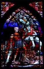 Eglise Saint-Jean-de-Montmartre - English: Parish church St-Jean de Montmartre, stained glass window: The Fourth Horseman of the Apocalypse, 16th arr. Paris
