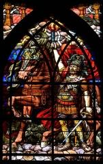 Eglise Saint-Jean-de-Montmartre - English: Parish church St-Jean de Montmartre, stained glass window: The Second Horseman of the Apocalypse, 16th arr. Paris