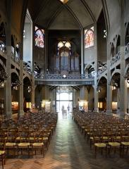 Eglise Saint-Jean-de-Montmartre - English: Parish church St-Jean de Montmartre, nave and organ gallery, 16th arr. Paris