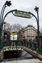 Métropolitain, station Anvers - Français:   Édicule Guimard de la station de métro Anvers.