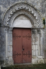 Eglise - English:  Doorway of the north aisle of the Our Lady and Saint Lawrence church.