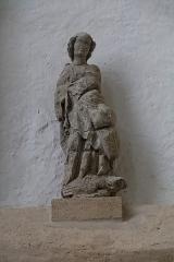 Eglise Saint-Mathurin - English:  Archangel Saint Michael deposited from an ridge tile. XIV century .