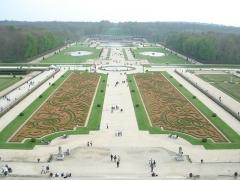Château de Vaux-le-Vicomte (également sur commune de Moisenay) - Español:   Vista panorámica de los jardines del palacio de Vaux-le-Vicomte (Francia)