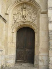Eglise Notre-Dame - Français:   Collégiale Notre-Dame à Melun — porte sud de la façade ouest