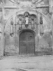 Eglise Notre-Dame -  Study. Photography after nature, Church portal by A. Louvoit. Signed. Dated 1854.