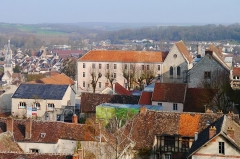Chapelle Sainte-Lucence - English: Lycée Thibaut-de-Champagne, Provins. Cityscape of Provins, as seen from Tour César.