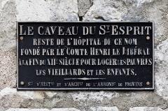Hôpital du Saint-Esprit -  Le caveau du Saint-Esprit à Provins.