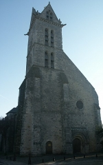Eglise - English: Steeple of the church of Ury (Seine-et-Marne, France)
