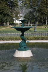 Parc - English: Marine square in the park of Maisons-Laffitte, France.