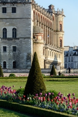 Domaine national de Saint-Germain-en-Laye, actuellement Musée des Antiquités Nationales - Français:   Grand parterre devant le château de St Germain-en-Laye