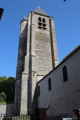 Eglise et prieuré - English: Saint-Martin church of Saint-Martin-de-Bréthencourt, France