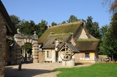 Domaine national de Versailles - English: Farm of the hameau de la Reine, the hamlet of Queen Marie Antoinette in the domain of Versailles in the department of Yvelines in France.