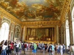 Domaine national de Versailles - Salon du château de Versailles (Yvelines, France).