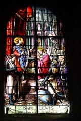 Eglise Saint-Etienne - Deutsch: Bleiglasfenster in der Kirche Saint-Étienne in Étréchy im Département Essonne (Île-de-France), Darstellung: Ludwig der Heilige