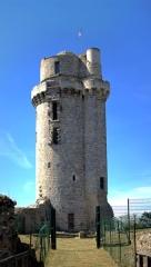 Ancien château - Français:   Vue de face du donjon de l\'ancien château de Montlhéry