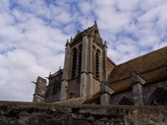 Eglise Saint-Sulpice -  Clocher de l'église de Saint-Sulpice-de-Favières dans l'Essonne (France)