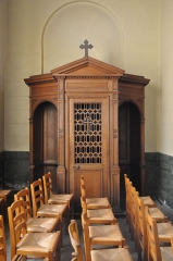 Eglise Saint-Nicolas et Saint-Marc - English: Confessional in the church of Saint-Nicolas-et-Saint-Marc in Ville-d'Avray, Hauts-de-Seine department, in France.