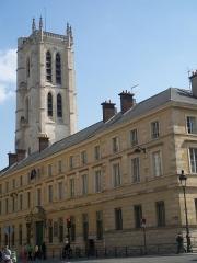 Ancienne abbaye Sainte-Geneviève, actuel lycée Henri IV - Français:   Entrée principale et tour Clovis