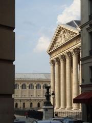 Bibliothèque Sainte-Geneviève - English: View of the Panthéon de Paris and the Sainte-Geneviève Library from the place de l'Estrapade in the 5e arrondissement of Paris
