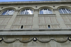 Bibliothèque Sainte-Geneviève - This building is classé au titre des Monuments Historiques. It is indexed in the Base Mérimée, a database of architectural heritage maintained by the French Ministry of Culture,under the reference PA00088394 .