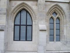Ancien couvent des Bernardins - Fenêtres, vue extérieure du Collège des Bernardins