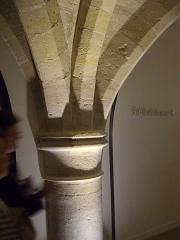 Ancien couvent des Bernardins - Français:   Pilier, sous-sol du Collège des Bernardins