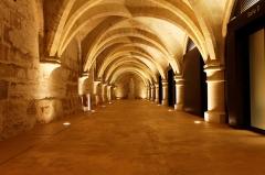 Ancien couvent des Bernardins - Français:   Le cellier du collège des Bernardins.