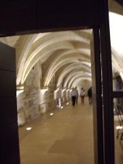Ancien couvent des Bernardins - Français:   Vue du sous-sol du Collège des Bernardins
