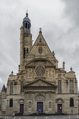 Eglise Saint-Etienne-du-Mont - This building is indexed in the Base Mérimée, a database of architectural heritage maintained by the French Ministry of Culture,under the reference PA00088414 .