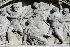 Eglise Saint-Etienne-du-Mont - Bas-relief représentant le martyre de saint Étienne