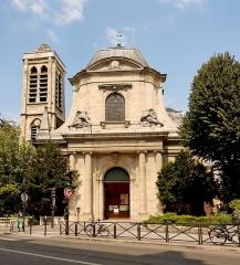 Eglise Saint-Nicolas-du-Chardonnet - English: Façade of the catholic church Saint-Nicolas-du-Chardonnet, built in the 16th-17th centuries. Rue des Bernardins, Paris