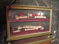 Eglise Saint-Séverin - English: Relics supposed to be of Saint-Ursula in the church Saint-Séverin in Paris.
