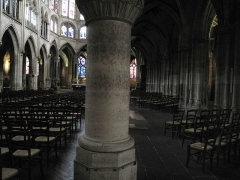 Eglise Saint-Séverin - English: Naves in the church Saint-Séverin in Paris, well known because of its five naves.