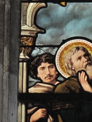 Eglise Saint-Séverin - English: Close-up of the stained glass window
