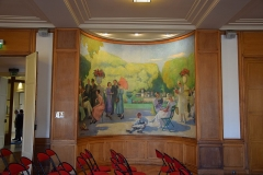 Mairie annexe du cinquième arrondissement - Salle Pierre Pierrotet (salle du conseil d'arrondissement et salle de réception) de la mairie du 5e arrondissement de Paris Panneaux peints par Léon-Laurent Galand