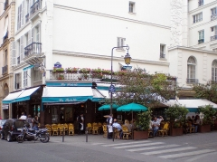Café La Palette - English: Jacques Callot street - Paris