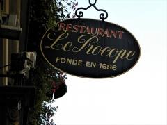 Café Le Procope - Français:   Paris, France. Restaurant LE PROCOPE (The Name)(PA00088496)