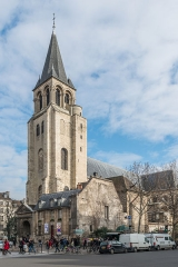 Eglise Saint-Germain-des-Prés - English: The Abbey of Saint-Germain-des-Prés in the 6th arrondissement of Paris