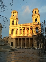 Eglise Saint-Sulpice - English: The church of Saint Sulpice in Paris in the warm light of February