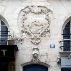Immeuble - English: Building, rue des Canettes, 18, in Paris.