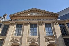 Palais de l'Institut (ancien collège des Quatre-Nations) - English: Pediment of Bibliothèque Mazarine located in the 6th arrondissement of Paris in France.